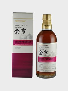 """Yoichi Sherry & Sweet Single Malt · Nikka was the life's work of Masataka Taketsuru, the """"Father of Japanese Whisky."""" Its products are rightly celebrated worldwide for their quality, and it is not an exaggeration to say that you can feel the ingenuity of Masataka in Nikka whisky. Of all Nikka whiskies, perhaps the most celebrated is their Yoichi, strictly selected from among the finest malts, distilled and matured in cherry casks at the Yoichi distillery, birthplace of Nikka whisky."""
