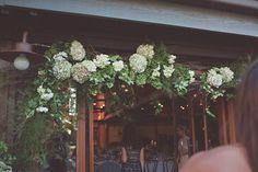 Flowers at doorway