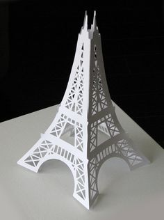 Large Eiffel Tower paper die cut decoration for your Paris themed party