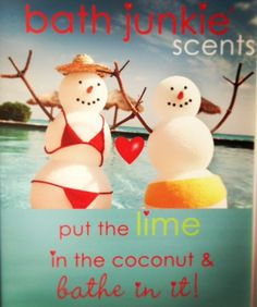Great scent combo: lime & coconut!