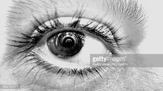 Foto de stock : Extreme Close-Up Of Person Eye
