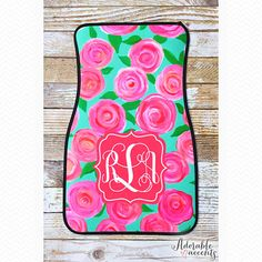 Monogrammed Lilly Pulitzer Inspired Car Mats on Etsy, $32.95