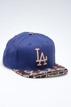 LA Dodgers aztec peak cap