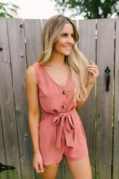 Bourbon Street Button Down Romper - Autumn Rust Magnolia Boutique, Bourbon Street, Ever After, Capsule Wardrobe, Boutique Clothing, Trendy Fashion, Cute Outfits, Rompers, Rust