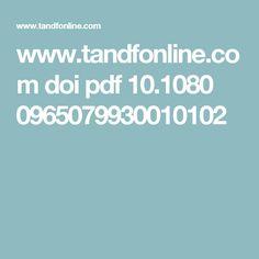 www.tandfonline.com doi pdf 10.1080 0965079930010102