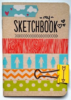From I am doe: Freckled Fawn blog. Cute idea for the Amy Tan sketchbooks included in the October Papeire Club Kit.
