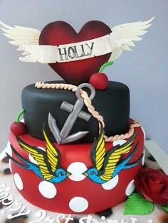 S Theme Cake Birthday Cake For A S Themed Party All - Rockabilly birthday cake