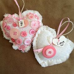 fabric heart crafts - Google Search