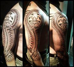 Nordic style polynesian tattoo by Meatshop-Tattoo.deviantart.com on @deviantART