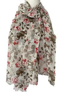 Grey novelty Sheep animal print scarf scarves shawl beach throw present gift