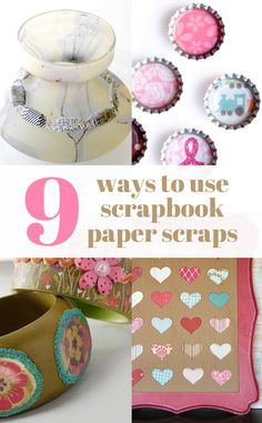 9 ways to use up all your scrapbook paper scraps