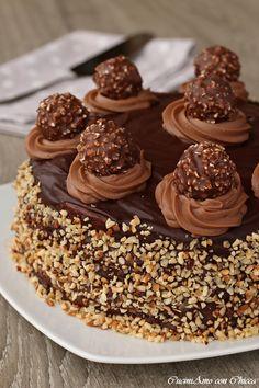 My Recipes, Dessert Recipes, Favorite Recipes, Torta Ferrero Rocher, Macarons, Menu Maker, Homemade Cookbook, Cooking Cake, Recipe Filing