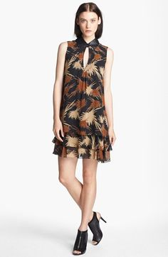 Rachel Zoe 'Waverly' Print Crepe Trapeze Dress available at #Nordstrom