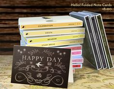 Hello! Folded Note Cards