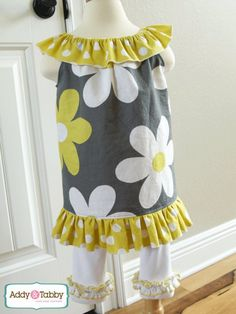 Download Girls Easy Ruffle Dress, 6m-10 Sewing Pattern | Dress Sewing Patterns | YouCanMakeThis.com #EasterDress #easy