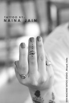 Evil eye tattoo by Naina Jain at Skin Machine Tattoo Studio   Thanks for looking…