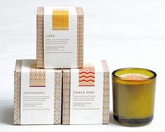 Beautiful candle packaging for Love Nature NYC by Ink + Wit