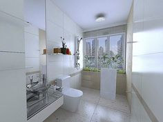 modern retro bathroom design