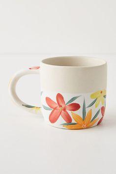 mug art Designed by Fotini Tikkou in collaboration with Anthropologie, this mug is a delightful addition to your Fotini TikkouIdentifying as an illustrator, maker, and mother, Fotini Tikkou r Ceramic Mugs, Ceramic Pottery, Ceramic Art, Hand Painted Mugs, Hand Painted Ceramics, Hand Painted Pottery, Pottery Painting Designs, Pottery Designs, Cute Coffee Mugs