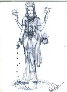 Goddess Lakshmi- by 0manisha.deviantart.com on @DeviantArt