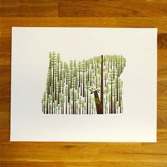 Oregon state print by Amy Ruppel $40