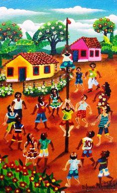 Subindo no pau de sebo Edmar Fernandes (Brasil, 1982) óleo sobre placa, 27 x 17 cm