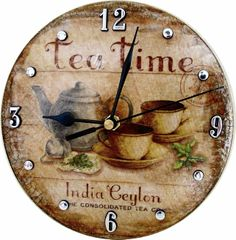 Decoupage vintage Wall Clock