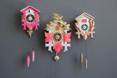 A modern take on a classic cuckoo clock.
