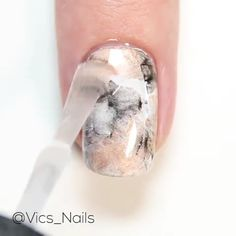 Nails Discover Here is marbled nail tutorial! DIY nail stamping for the perfect marbled nail design. Cute Acrylic Nails, Cute Nail Art, Nail Art Diy, Beautiful Nail Art, Cute Nails, Diy Nails Marble, Marble Nails Tutorial, Marbled Nails, Tutorial Nails