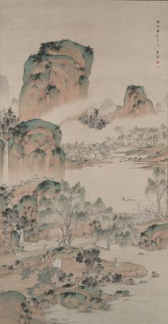 Spring Landscape in the ChineseStyle