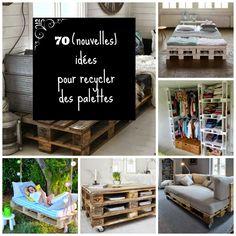 HOME & GARDEN: 70 (nouvelles) idées pour recycler des palettes ! (http://inspirationsdeco.blogspot.fr/2014/10/70-nouvelles-idees-pour-recycler-des.html)
