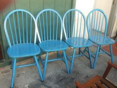 DIY painted dining chairs.