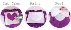 freezer paper stenciled onesies!! cute, cute, cute!