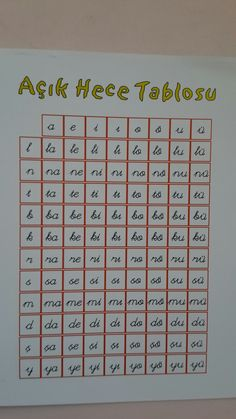 Hece Classroom Activities, Grade 1, Kids And Parenting, Worksheets, Periodic Table, Children, Home, Kid Games, Writing