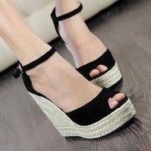 De qualité supérieure Qality été style confortable bohême compensées sandales pour Lady chaussures haute plate - forme à bout ouvert flip flops J0212(China (Mainland))