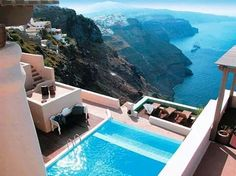 Beautiful pool with a gorgeous view