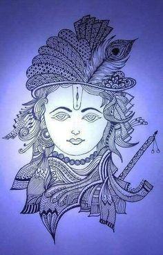 ideas for nature mandalas drawing zentangle Mandala Art Lesson, Mandala Artwork, Mandala Drawing, Mandala Sketch, Mandala Doodle, Ganesha Art, Krishna Art, Krishna Drawing, Ganesha Tattoo
