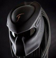 Black Doff Predator Motorcycle Helmet DOT For Bikers Size S-XL #HandMade #Predator