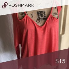 Chloe K burnt orange cold shoulder top Great cold shoulder high / low top. Lightweight  could layer with various pieces, cardigans, tanks etc. Chloe K Tops