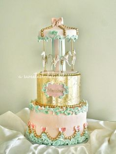 Carousel cake - Cake by Sara Carousel Cake, Carousel Party, Carousel Birthday, Birthday Cake, Birthday Ideas, Pretty Cakes, Beautiful Cakes, Amazing Cakes, Carnival Birthday Invitations