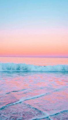 Iphone Wallpaper Tumblr Aesthetic, Iphone Background Wallpaper, Aesthetic Pastel Wallpaper, Aesthetic Backgrounds, Aesthetic Wallpapers, Phone Backgrounds, Beach Sunset Wallpaper, Summer Wallpaper, Pink Ocean Wallpaper
