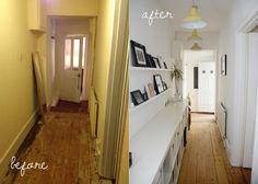 Narrow hallway paint colors decorating ideas for dark narrow hallways paint colors for small hallways ideas . Hallway Paint Colors, Hallway Walls, Long Hallway, Hallway Ideas, Hallway Decorations, Modern Hallway, Paint Colours, Corridor Ideas, Hallway Bench