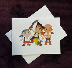 Jake and the Neverland Pirates Note Cards by LabelsandStickers
