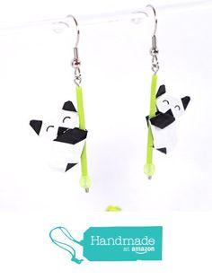 Boucles d'oreilles pandas contents en origamis - crochets inox à partir des LePaslaid https://www.amazon.fr/dp/B01M0M2S5S/ref=hnd_sw_r_pi_dp_H2nqzbP2QCMY8 #handmadeatamazon