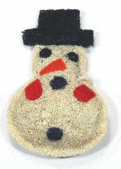 Loofah-Art Natural Loofah Scrubber~Snowman Natural eco-friendly, biodegradable. Gentle enough to clean fruits