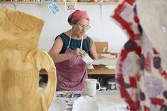 Betty Woodman at work