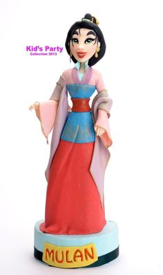 Princess Mulan cake topper