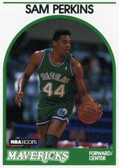 RARE 89/90 NBA HOOPS SAM PERKINS DALLAS MAVERICKS MINT