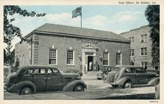 The old Post Office. This looks to be an old postcard.