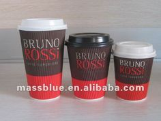 Customize disposable ripple wall coffee paper cup